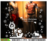Hot Sale Christmas Snowman Removable Home Vinyl Window Wall Stickers Decal Decor Christmas Transparent window Wallpaper Shop