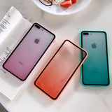 Gradient rainbow mobile phone case, acrylic tpu+pc all-inclusive protective cover soft edge, suitable for iphone X/XS, iphone XR, iphone XS MAX, iphone 7/8, iphone 7P/8P, iphone 6/6S, iphone 6P/6SP