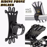 Bicycle Universal Mobile Phone Holder Silicone Motorcycle Bike Handlebar Stand Mount Bracket Mount Phone Holder