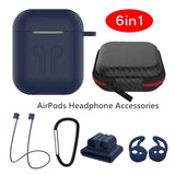 6 in 1 Airpods Bluetooth Headset Protection Set 6 Kits Set Receiving Box Tool Accessories Package