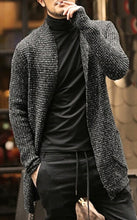 Load image into Gallery viewer, Men Autumn and Winter Casual Thick Warm Mohair Coat Males Long Sleeve Overcoat Knitted Cardigan Sweater Outerwear