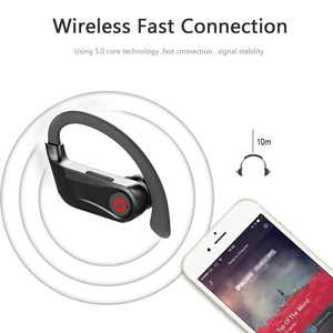For HBQ PRO PowerBeats Q62 Sports Bluetooth 5.0 Headsets Mini TWS Earbuds Wireless Stereo Earphones Long Playtime with Mic Charging Case