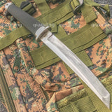 12.5 INCH JAPAN SAMURAI TANTO Fixed Blade Tactical Knife Outdoor Military Razor Hunting Knives Combat Katana Camping Survival Tools+Leather Sheath