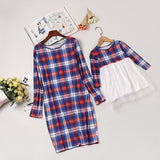 Mother Daughter Dresses Color Plaid Long Sleeve Mother Daughter Clothes Family Matching Clothes Mom and Daughter Dress