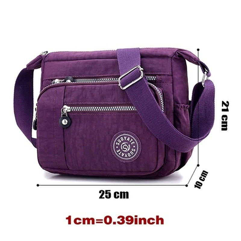 Women's Casual Washed Oxford Cloth Cross Body One Shoulder Canvas Bag