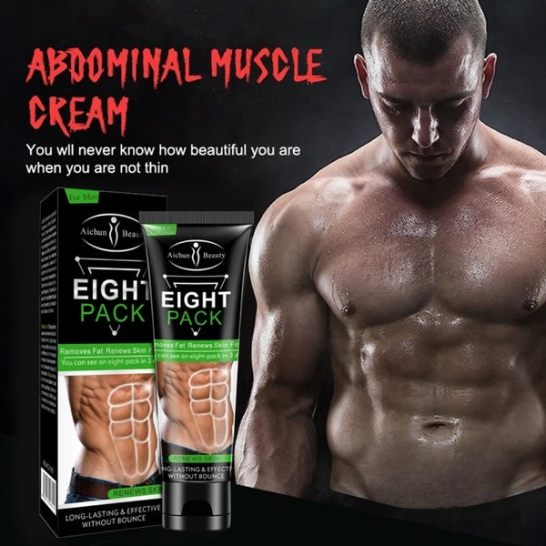 Men's Eight Pack Stronger Muscle Cream Fitness Belly Burning Muscle Weight Loss Fat Remove Cream