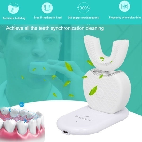 USB Connection Automatic Tooth Cleaner Beauty Tooth Whitening Automatic Electric Toothbrush Ultrasonic Toothbrush Cleaning Teeth No Dead Ends