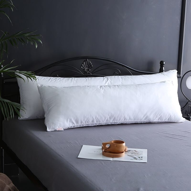Ultra Soft Body Pillow 150x50cm Long Side Sleeper Pillows - 100% Cotton Cover with Soft Polyester Filling - For Bedding