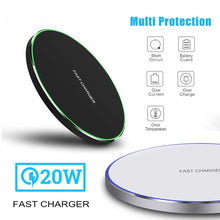 Load image into Gallery viewer, 20W(Max) Universal Phone Wireless Charger QI Wireless Charging Pad Qi ChargerFor iPhone XS MAX /XS /X / XR/8 /8 Plus and More Qi-standard Smartphones