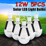 Portable 12W Solar LED Light Bulb IP65 Waterproof Home Emergency Lighting Outdoor Camping Lamp Solar Bulbs Light Outdoor