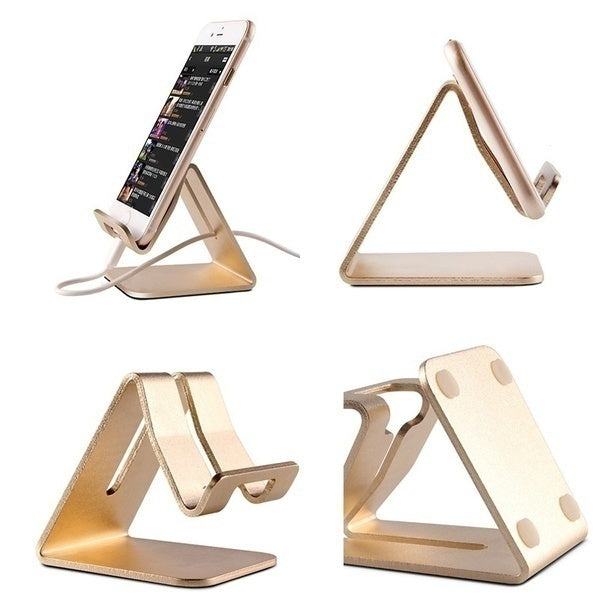 Universal Portable Aluminium Alloy Mobile Phone Holder Bed Office Desk Table Holder for Phone Tablet Mount Stand