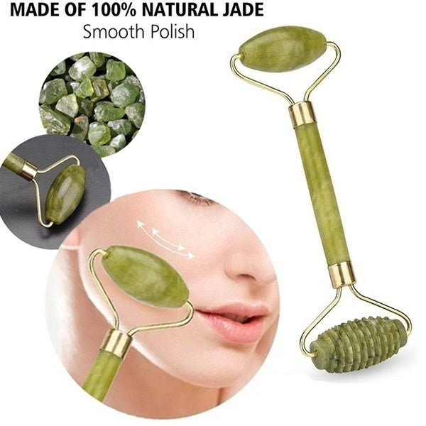 4 Styles of Natural Head Massage Roller Jade Face Slimming Body Neck Massage Eye Beauty Massage Stone Tools