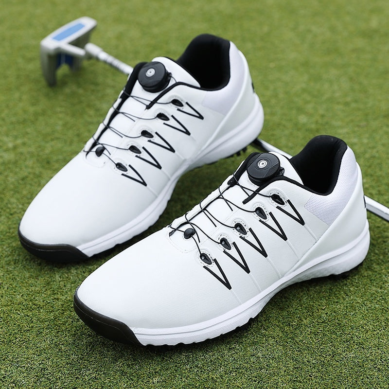 Brand Professional Leather Golf Shoes Lightweight Men's Shoes Golf Breathable Waterproof Anti-slip Shoes Golf Shoes Mens Comfortable Sports Spikes Shoes for Golf