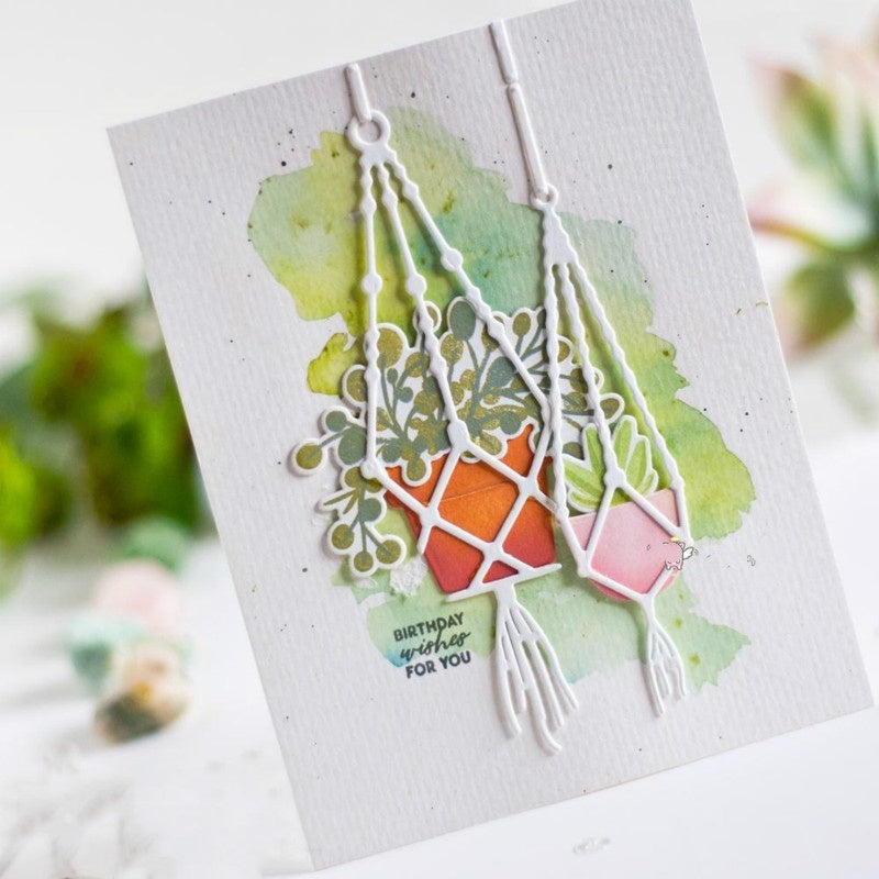 New 2019 Plant Hanging Potted Metal Cutting Dies Crafts Frame for DIY Scrapbooking Card Making Album Paper Embossing Crafts Die Cut