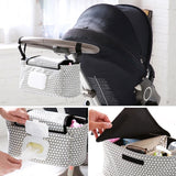 Portable Baby Stroller Bag Nappy Diaper Carriage Hanging Basket Storage Waterproof Baby Stroller Organizer Bags