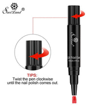 Load image into Gallery viewer, Saviland Fashion Nail Pen Soak Off UV Color Gel Manicure Tool Long-lasting nail polish Easy To Use UV Gel Manicur Nails Makeup Beauty