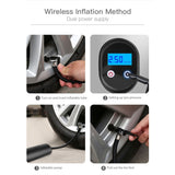 Wired/Wireless 6000mAh 60W Rechargeable Air Pump for Car Bicycle Tires Balls Swimming Rings Toys, with LED Light and LCD Display