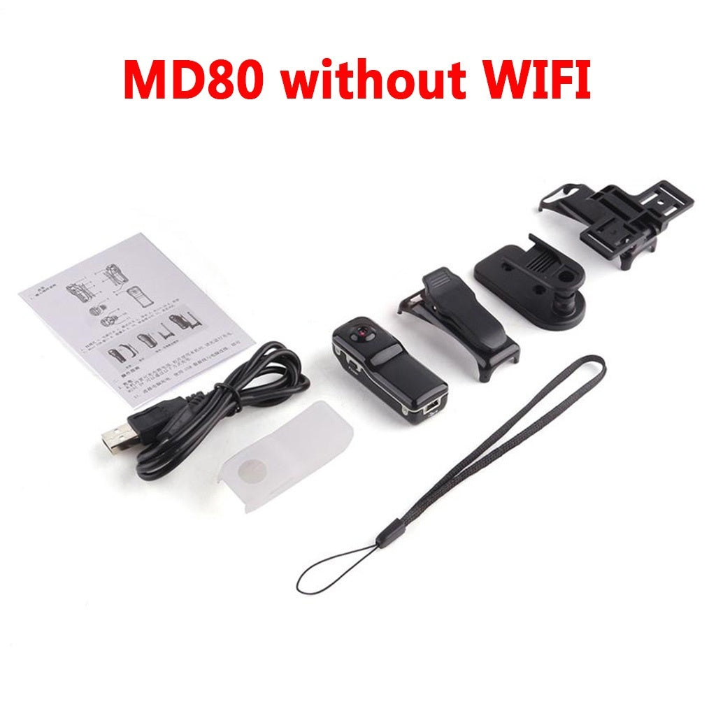 MD81 Mini WIFI DV Camcorder DVR Video Camera Webcam Support Most 32GB HD Cam Sports Camera Video Audio Recorder Home Security Camera