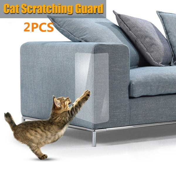 2Pcs/Set Couch Guard Cat Anti-Scratching Protector Sofa Furniture Self-Adhesive Cat Scratching Guard Cat Furniture Sofa Anti-Scratch Sticker For Cat Scratching or Clawing Furniture Protector Cat Lovers Necessary