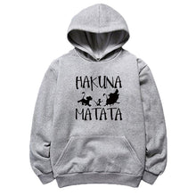 Load image into Gallery viewer, New Fashion Hakuna Matata Letter Print Hoodies Long Sleeves Casual Cotton Sweatshirt Men and Women Pullover