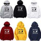 New Fashion Hakuna Matata Letter Print Hoodies Long Sleeves Casual Cotton Sweatshirt Men and Women Pullover