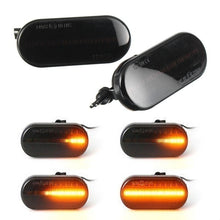 Load image into Gallery viewer, 2PCS Dynamic Flowing Repeaters Indicator LED Side Marker Light(Black)