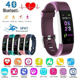Bluetooth Smart Bracelet Band Waterproof Heart Rate Blood Pressure Pulse Monitor Fitness Pedometer Smart Watches Bracelet