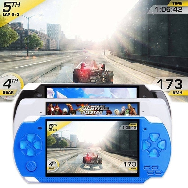 NEW Upgrade Free 10000 Games Video Game Console 8GB 4.3 Inch Handheld Game Console with 1000 Classic Games Support Video & Music Playing Built-in 3M Camera