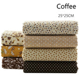 7 Pcs/set  DIY Craft Sewing Clothes Fashion 25x25cm Square Assorted Pre-Cut Cotton Quilt Fabric Floral Fabric