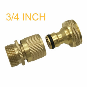Fashion 3/4 Inch Brass Garden Hose Quick Connector GHT Easy Connect Fitting Yard Tool