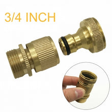 Load image into Gallery viewer, Fashion 3/4 Inch Brass Garden Hose Quick Connector GHT Easy Connect Fitting Yard Tool