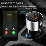 Bluetooth 4.2 Wireless Handsfree Car FM Transmitter MP3 Player with2 USB Charger