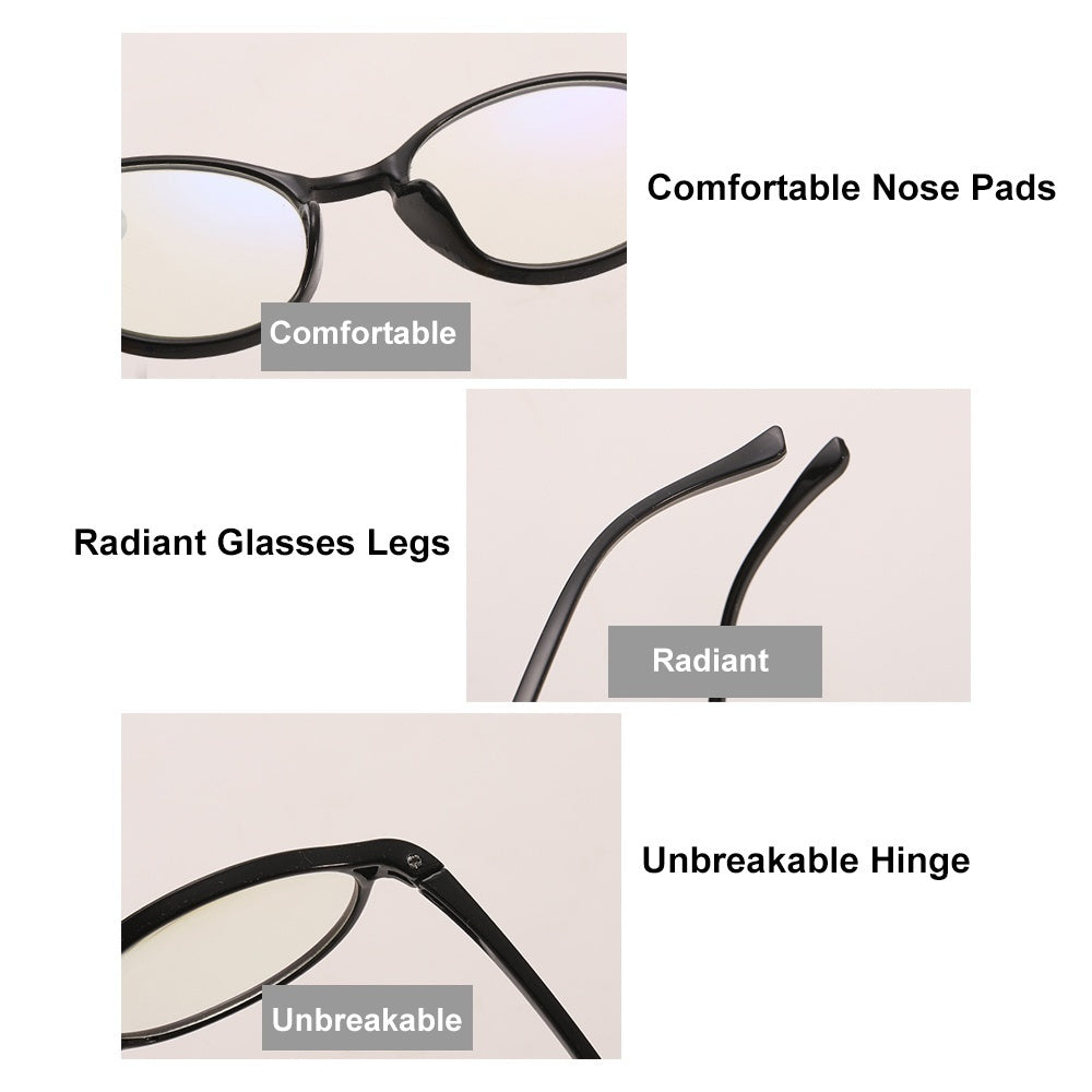 1pc Classic Round Frame Reading Glasses For Men Women Anti Blue Rays Presbyopia Eyeglasses Antifatigue Computer Eyewear with Strength+1.00~+4.00