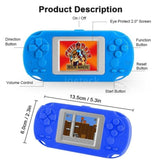 New Portable Game Machine Console 8 Bit Retro Handheld Game Player Built-in 268 Classic Games