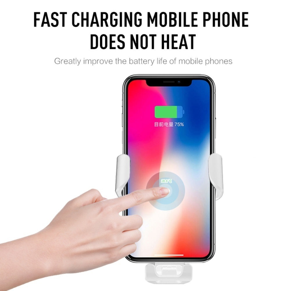 2 In 1 Car Qi Wireless Fast Charger +  Car Phone Holder Bracket Auto-Clamping Adjustable Gravity Car Mount Air Vent Phone Holder for IPhone XS Max Samsung S9 Xiaomi MIX 2S Huawei Mate 20 Pro Mate 20 RS
