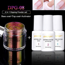 Load image into Gallery viewer, YAYOGE 4Pcs/Set Dipping System Nail Kit Nail Art Dipping Powder With Base Top Activator Liquid Natural Dry Without Lamp