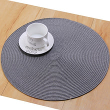 Load image into Gallery viewer, 2-6PCS Round Woven PVC Anti-hot Tableware Cup Mug Pad Coaster Dish Plate Tableware Mat Non-slip Mat 11/18/36CM
