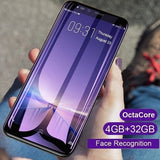 2019 Two Types Android Smartphone 6.0 inch / 5.0 inch MTK6580 Octa Core Dual Sim 4GB Ram + 32GB Rom Bluetooth Wifi Camera GSM 3G WCDMA Mobile Phone