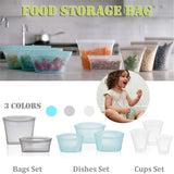 Silicone Food Preservation Bag Multi-function Seal Cleanable Storage Bag Reusable Leakproof Containers
