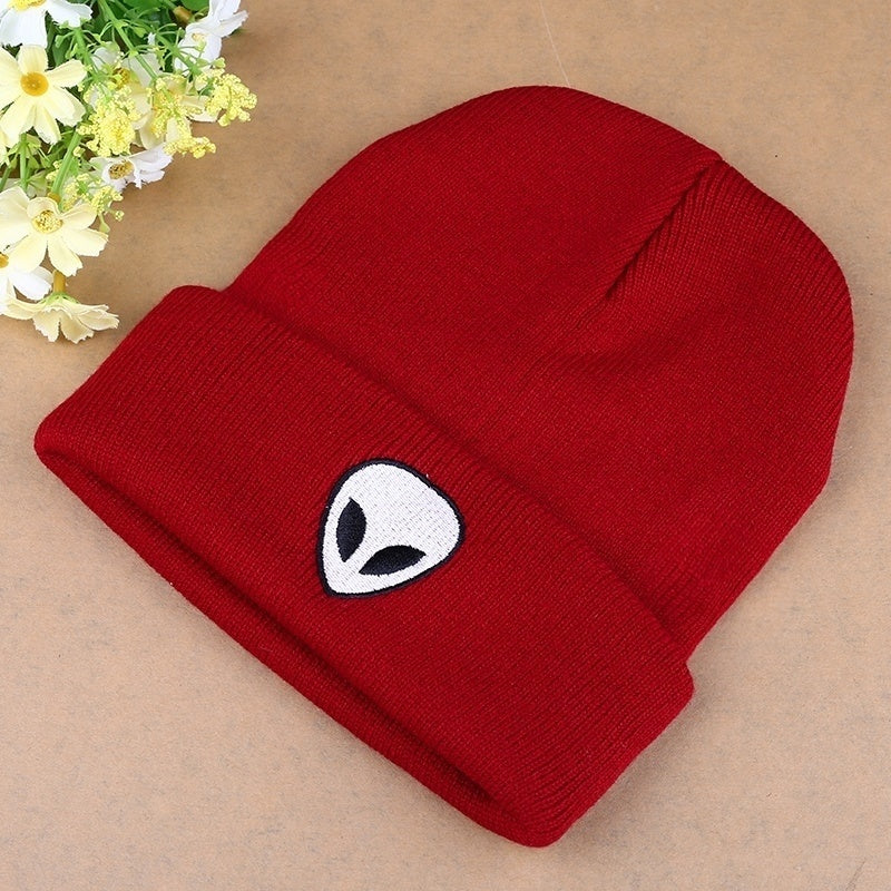 Hot Explosion New Style 5 Color Pattern Alien Knitted Hat Cap Wool Men Women Hat Christmas Gifts Creative Gifts