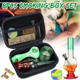 8Pcs Multifunctional Smoking Cutting Blades Grinder Box Bag Gift Set Rolling Set Hookah For Smoker Tool