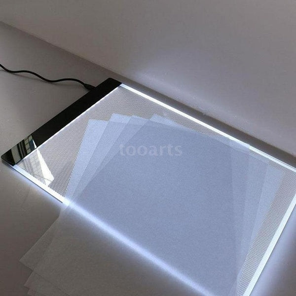 Aibecy A4 Ultra-thin LED Light Box Drawing Tracer Table Painting Tracing Pad Copy Board Panel with Stepless Dimmable Brightness Memory Function for Artist Animation X-Ray Viewing Tattoo Sketching Architecture Calligraphy Stenciling