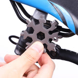 High Quality EDC Tool 18-in-1 Multi-tool Card Combination Compact and Portable Outdoor Products Snowflake EDC Tool Card