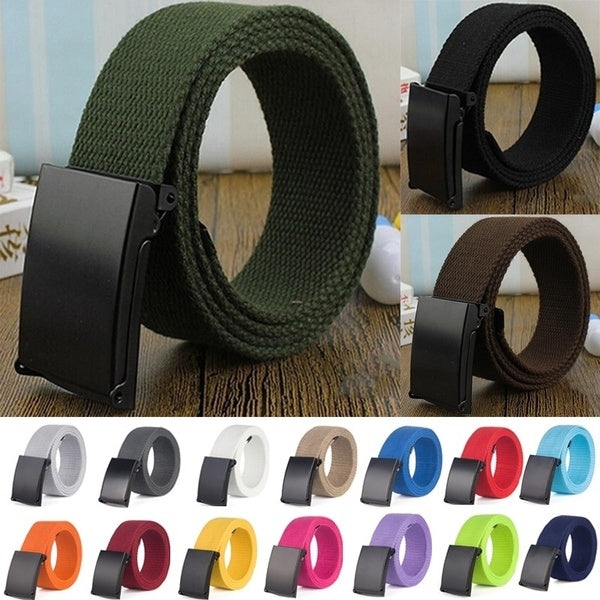Fashion Outdoor Sports Military Tactical Nylon Waistband Canvas Web Belt