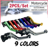 2pcs/set Moped Universal Motorcycle Parts Modification Handle Brake Clutch Adjustable Lever Set
