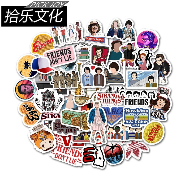 40/90pcs Strange Story Stranger Things Cartoon Stickers Personalized Suitcase Guitar Graffiti Sticker