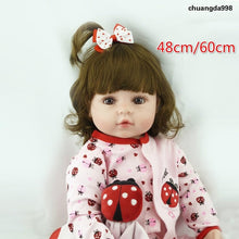 Load image into Gallery viewer, 48cm/60cm New Lovely Realistic Baby Doll Soft Silicone Vinyl Cloth Body Lifelike Toddler Girl Toy