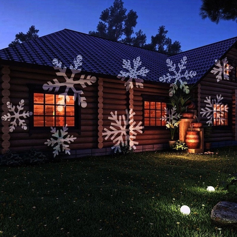 LED Snowflakes Projector Light Waterproof White or Multicolor moving snowflakes Sparkling Landscape for Outdoor Indoor Decor Stage Irradiation Holiday Christmas Home Decoration Wall Motion Decoration lighting