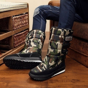 Size:36-47 NEW Outdoor Winter Snow Boots Men Skiing Boots with Fur Casual Warm Winter Shoes plus size 3 Colors