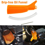 Motocycle Car Primary Case Oil Fill Drip-Free Oil Funnel Crankcase Fill Funnel Kit for Harley Touring